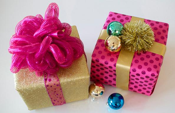 Diy el estilo glam para tus regalos de navidad skarlett costura - Decoracion para regalos ...