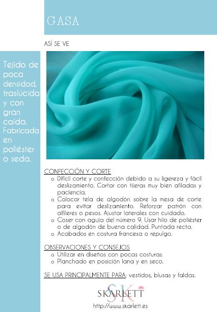 Ficha Dossier de las telas