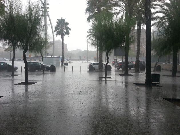 Barcelona lluvia