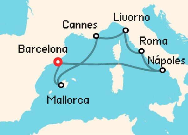 ruta crucero mediterraneo norwegian epic