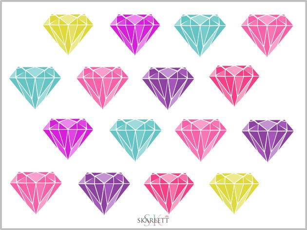 diseño tela diamantes