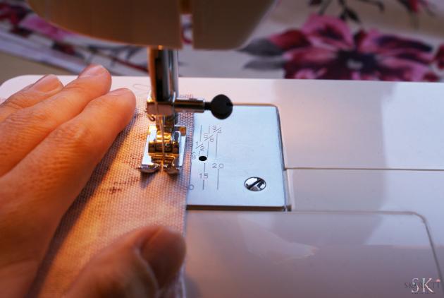 coser puntada recta