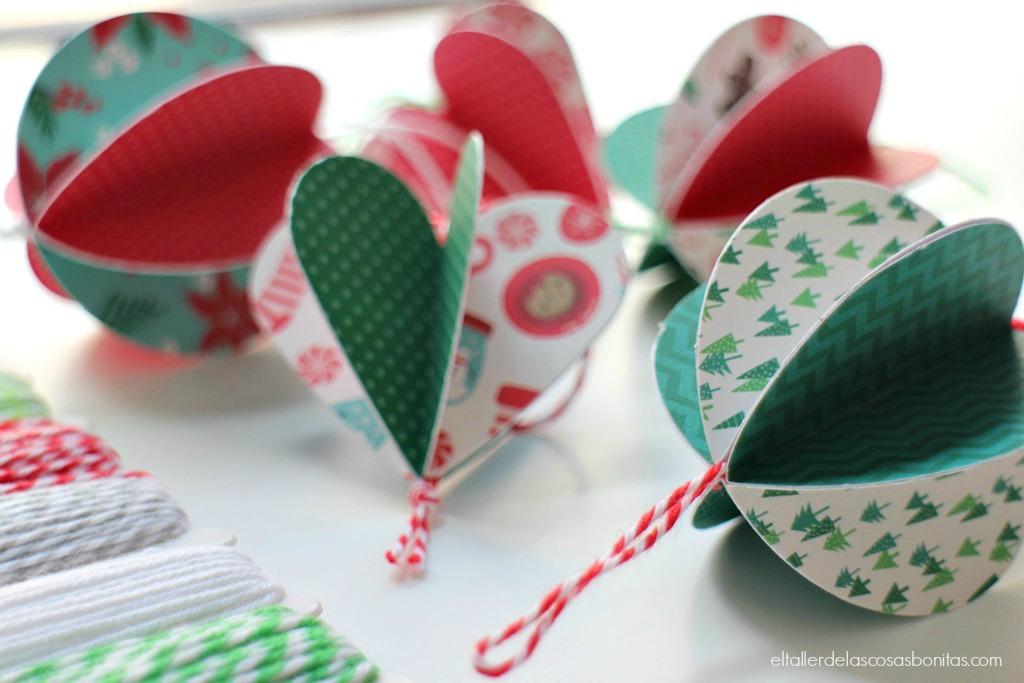 adornos Navidad DIY eltallerdelascosasbonitas