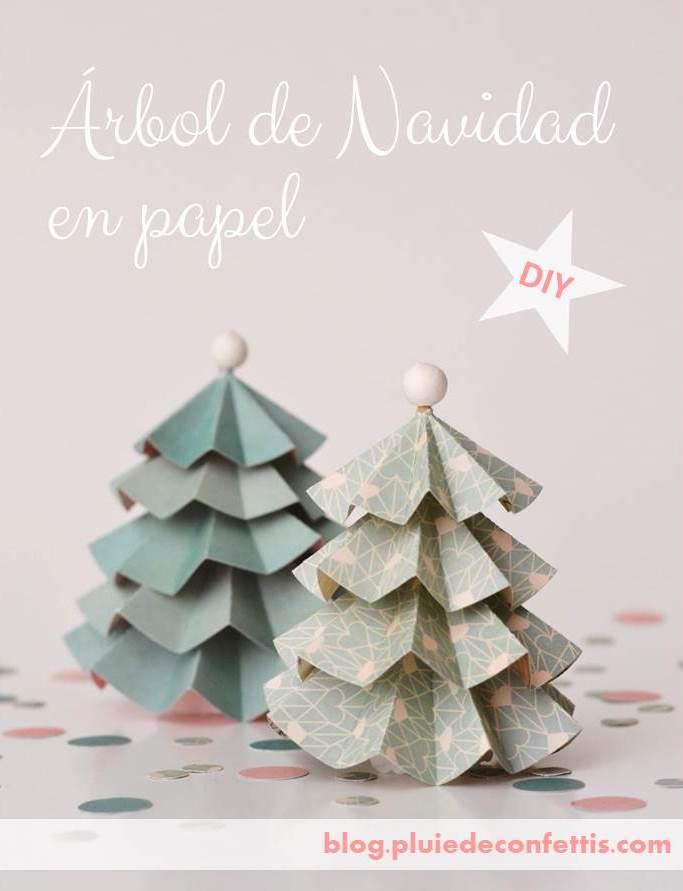 arbol navidad papel pluiedeconfettis