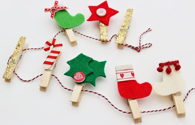 guirnalda pinzas navidad di - Guirnalda De Navidad