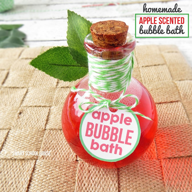baño-burbujas-manzana-DIY