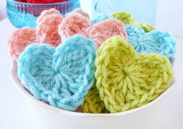 Corazones-de-crochet
