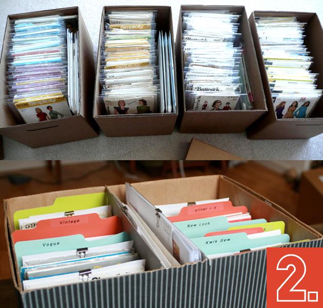 Las 6 mejores ideas para ordenar tus patrones y no perder - Cajas para ordenar ...