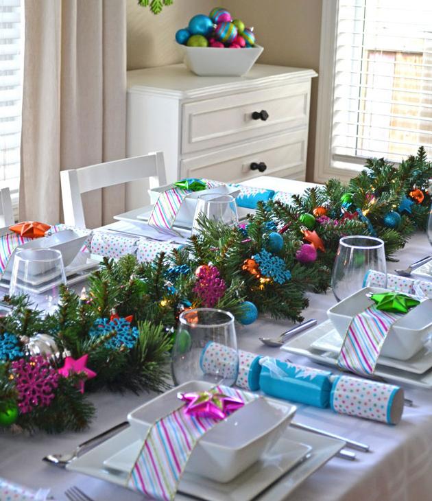 10 ideas precios simas para decorar tu mesa estas - Decoracion de mesas navidenas ...