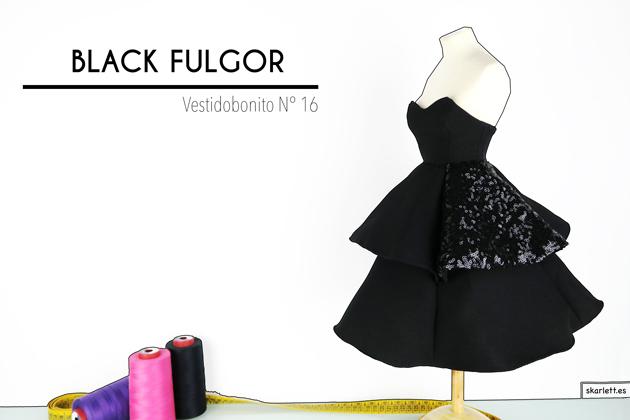 BLACK FULGOR   VESTIDO BONITO MINIATURA Nº 16 add9a20bcd4
