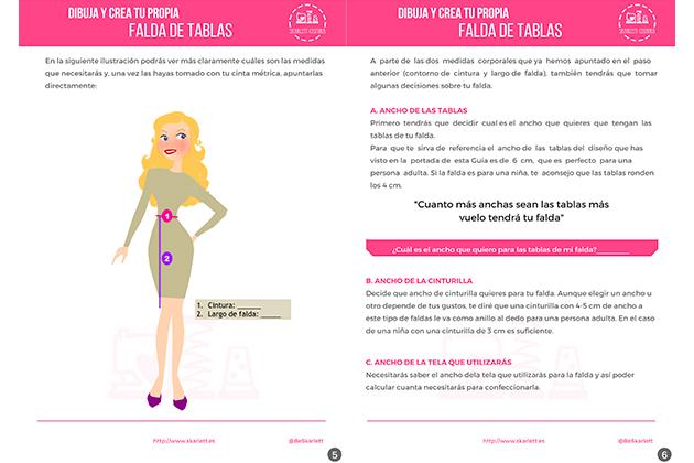 Dibuja y crea tu propia falda de tablas   Guía de Costura 58a9c6e30d90