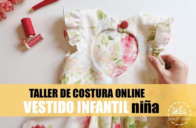 coser vestido niña taller online